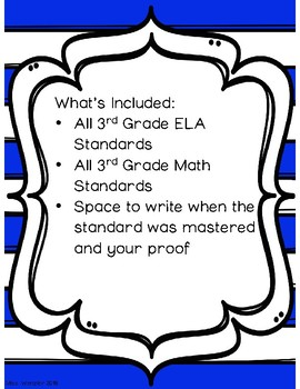 3rd Grade NYS Common Core State Standards Checklists