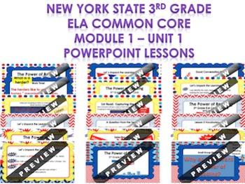 3rd Grade NYS ELA Module 1 Unit 1 PowerPoint Lessons BUNDLE