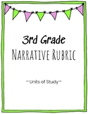 3rd Grade Narrative Writing Rubric