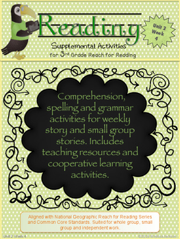 3rd Grade National Geographic Reach for Reading (Unit 2 Week 4 Supplement)