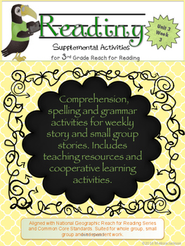 3rd Grade National Geographic Reach for Reading (Unit 3 Week 3 Supplement)