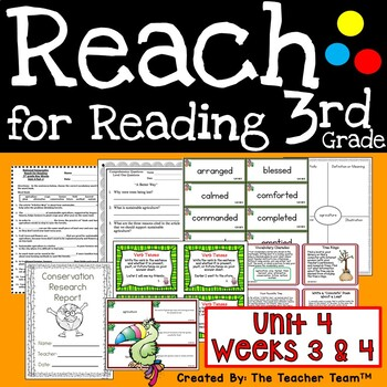 National Geographic Reach for Reading 3rd Grade Unit 4 Weeks 3 and 4