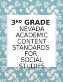 3rd Grade Nevada Social Studies Standards Checklist