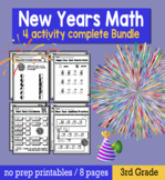 3rd Grade New Years 2020 Math Packet