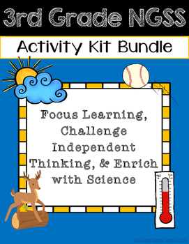 Third Grade NGSS Activities Bundle
