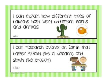 "NGSS Posters -2nd Grade- Next Generation Science (Common Core Align) ""I Can..."""