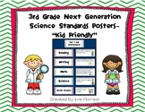 "3rd Grade Next Generation Science Standards Posters- ""Kid Friendly"""