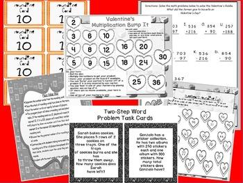 """3rd Grade """"No Prep"""" February Math Bundle Galore ~ CCSS Third Grade"""