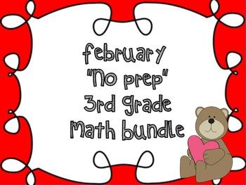 "3rd Grade ""No Prep"" February Math Bundle Galore ~ CCSS Thi"