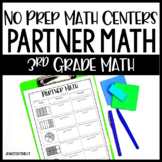 3rd Grade No Prep Math Centers - Partner Math Printables