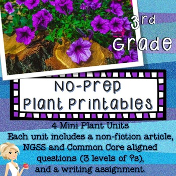 Plants No Prep Printables Differentiated - 3rd Grade NGSS