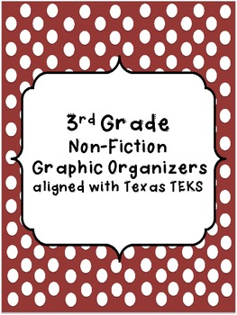 3rd Grade Non-Fiction Graphic Organizers Aligned with Texas TEKS