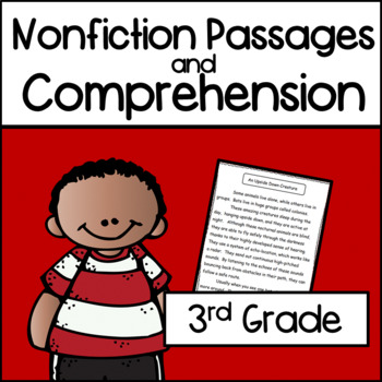 3rd Grade Non Fiction Text with Comprehension Printables