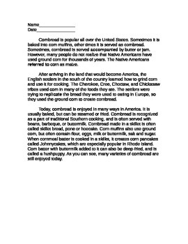 3rd Grade Nonfiction Reading Comprehension Packet: Multiple Choice/Open Response