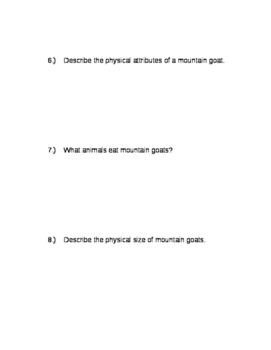 3rd Grade Nonfiction Reading Packet with Questions