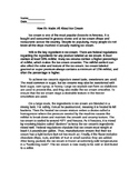 3rd Grade Nonfiction Reading Practice Packet Open Response