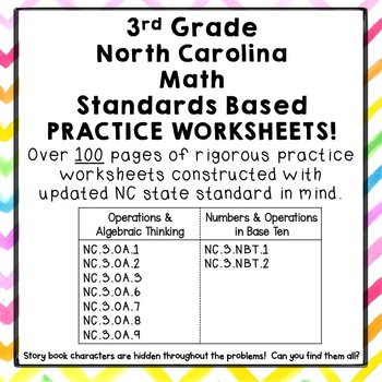 3rd Grade North Carolina Standards Based Math Practice