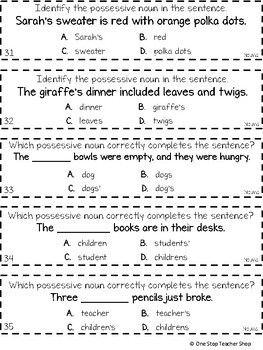 3rd Grade Nouns | Plural Nouns, Possessive Nouns, Abstract Nouns Game