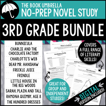 3rd Grade Novel Study Bundle