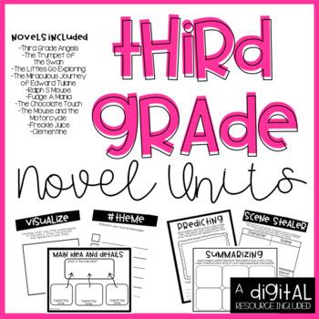 3rd Grade Novel Unit Bundle