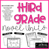 3rd Grade Novel Unit Bundle DIGITAL INCLUDED