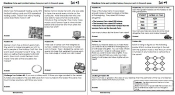 3rd Grade November Problem Solving: Daily Multi-Step (Two-Step) Math Problems