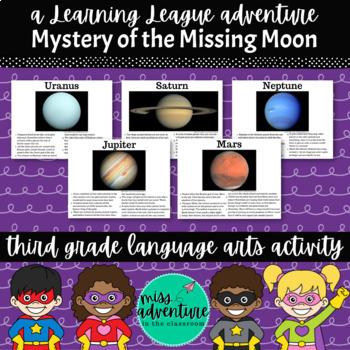 3rd Grade November Reading Adventure- Mystery of the Missing Moon