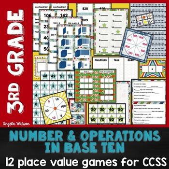 Place Value 3rd Grade: 12 math games for Common Core