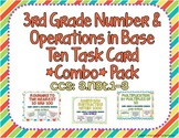 3rd Grade Number & Operations in Base Ten Task Card *Combo* Pack