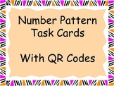 3rd Grade Number Pattern Task Cards W/QR Codes