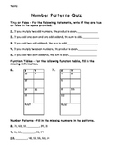 3rd Grade Number Patterns Assessment