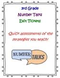 3rd Grade Number Talks Exit Tickets