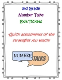 3rd Grade Number Talks Exit Tickets