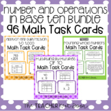 3rd Grade Number and Operations in Base Ten Task Card Bundle