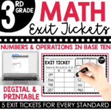 3rd Grade Numbers & Operations in Base Ten Exit Tickets (Exit Slips)
