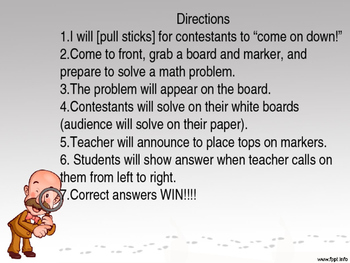 3rd Grade Review Game- Numbers and Base Ten Common Core Powerpoint