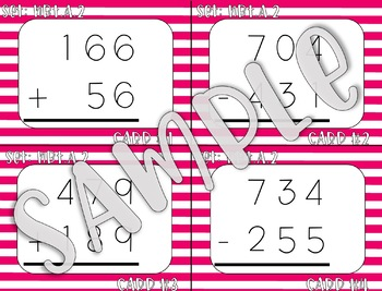 3rd Grade Numbers and Operation Base Ten Task Cards - ALL Standards