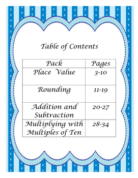 3rd Grade Numbers and Operations - Base Ten Interactive Notebook Foldables Pack