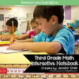 Third Grade Math Numbers and Operations Interactive Notebook