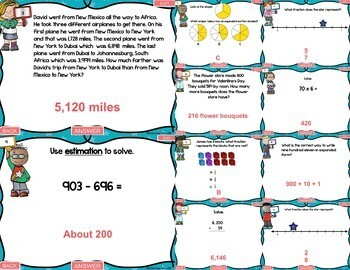 3rd Grade Numbers and Operations Test Prep PowerPoint Games