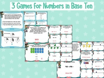 3rd Grade Numbers and Operations Test Prep Digital Games