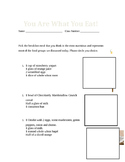 3rd Grade Nutrient Worksheet: You Are What You Eat!