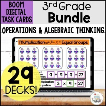 3rd Grade OA Boom Card Bundle