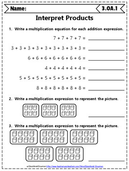 3rd Grade OA Worksheets: 3rd Grade Math Worksheets, Operations & Algebraic