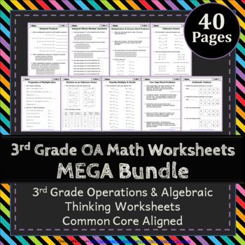3rd Grade OA Worksheets: 3rd Grade Math Worksheets, Operations & Algebraic