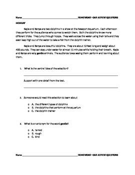 3rd Grade OAA homework
