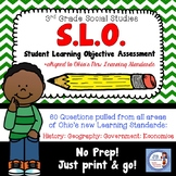 3rd Grade OH Social Studies SLO (Student Learning Objective) Assessment