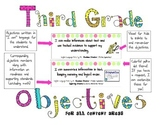 3rd Grade Objective Posters ALL Content Areas