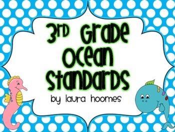 3rd Grade Ocean Standards COMMON CORE