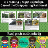 3rd Grade October Math Adventure- Case of the Disappearing Rainforest